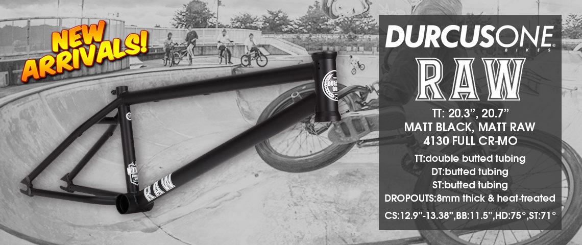 DURCUS ONE – RAW FRAMEが新入荷。 大霜 優馬・浅野 海彦のバイクチェック!